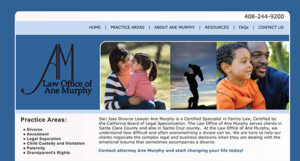Original website designed by ATC Web Solutions for Ane Murphy Law