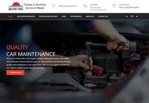 WordPress website that ATC Web Solutions built for Auto tec car repair in Campbell