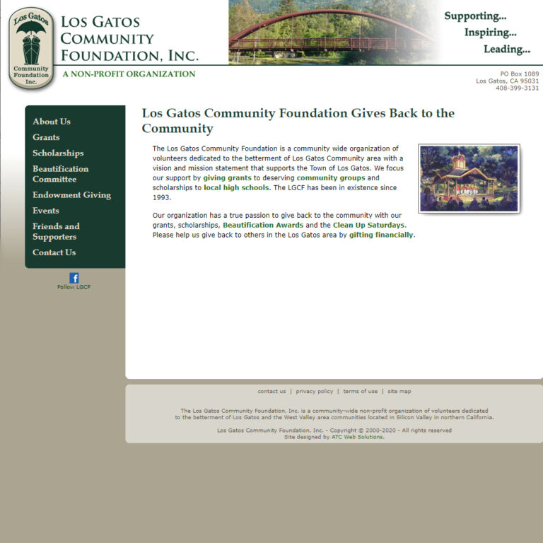 ATC Web Solutions works with non-profit foundation to create website and support it for years