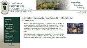 Los Gatos CommunityFoundation Home Page