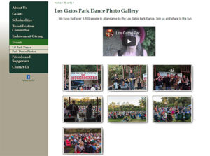 ATC Web Solutions worked to create the Los Gatos Community Foundation Park Dance web page