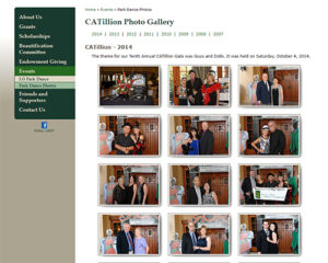 ATC Web Solutions worked with Los Gatos Community Foundation to create photo web pages for their events