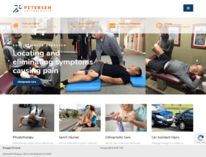 Home page of Petersen Chiropractic website built on WordPress by ATC Web Solutions