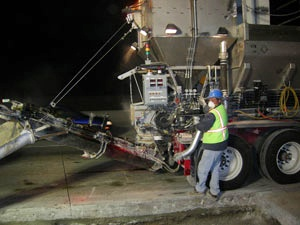 Mobile batch plant equipment is expertly operated by the George Throop Company Nationwide Concrete Producers