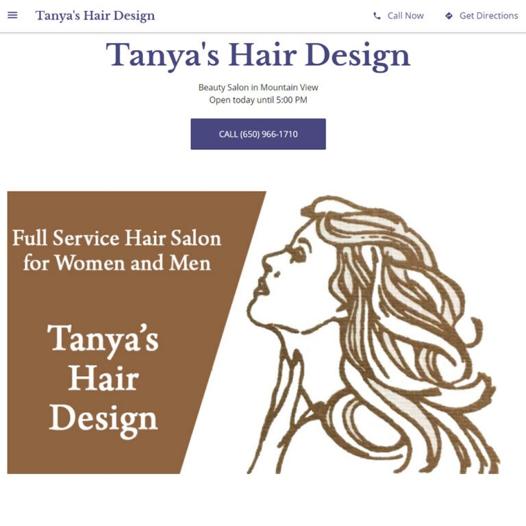 Tanyas Hair Design is a client of ATC Web Solutions