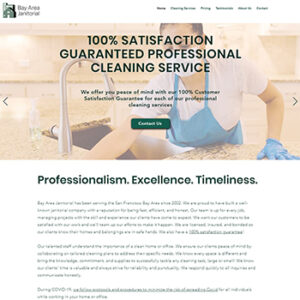 ATC Web Solutions helps small businesses with websites - Bay Area Janitorial